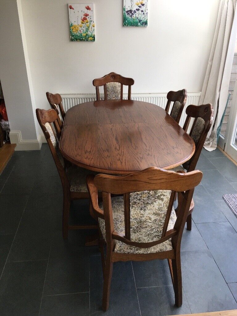 Remarkable Oak Dining Room Table And 6 Chairs In Very Good Condition In Bath Somerset Gumtree Interior Design Ideas Gresisoteloinfo