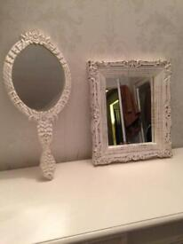 Set of 2 French mirrors could hand on wall