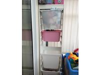 Ikea storage with 4 boxes