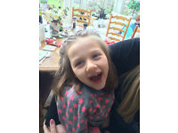Nanny needed from November to help with lovely 6yr old girl with cerebal palsy in Nailsworth area