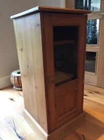 Antique Pine Media Cabinet