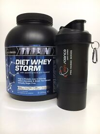 IRONSCIENCE TITAN Diet Whey Storm 2.25kg | With Green Tea & L-Carnitine + FREE Smart Shaker