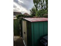 Green Apex Galvanised metal shed