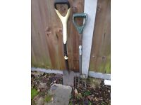 LADIES GARDEN OR BORDER FORK AND SPADE