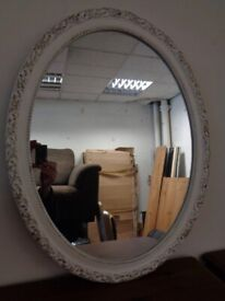 Oval Rococo Style Wall Mirror