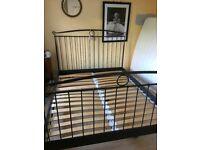 IKEA METAL KING SIZE BED FRAME GREY/BLACK