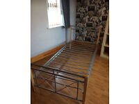 2 steel & oak frame single beds. Both in excellent condition.