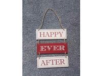 Happy Ever After Hanging Wall Plaque
