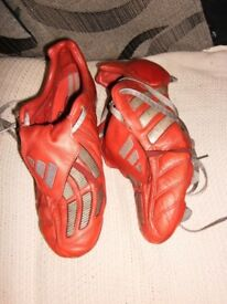 rare red adidas predator mania football boots 10s