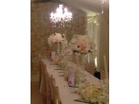 **FLOWER WALL HIRE ** BACKDROP STAGING**CENTREPIECE**PICK YOUR COLOUR****