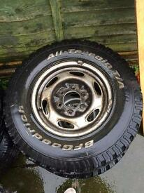 Ford Ranger steel wheels.