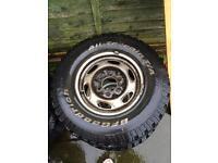 Ford Ranger steel wheels.