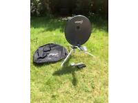 Satgear fold up 60cm satellite dish with receiver