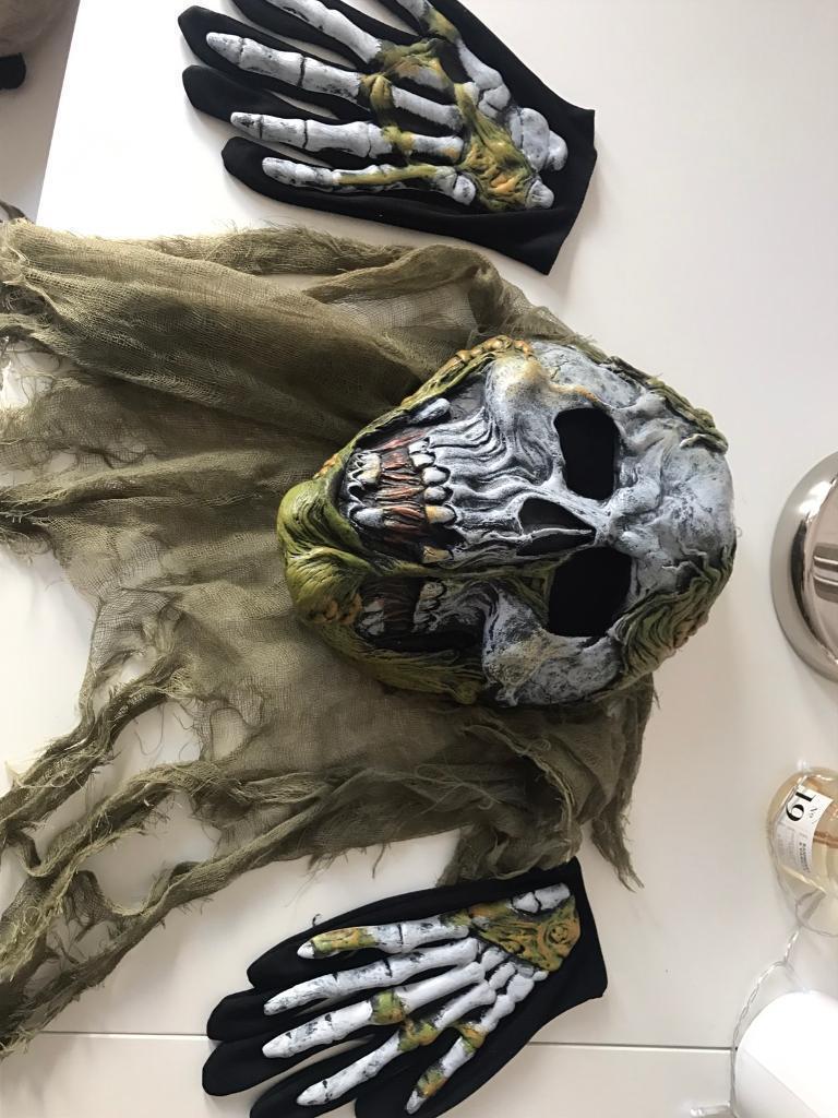 Boys Halloween zombie skeleton costume £7