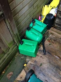 PETROL CANS X4