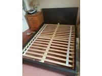 Low Faux leather double bed frame