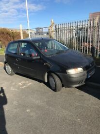 FIAT PUNTO 1.2 3 DOOR 2002, TAXED AND TESTED TILL MARCH 18
