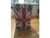 Union Jack Tea Tin Canister