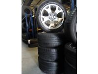 "GENUINE 19"" TIGERCLAW BMW ALLOYS WITH 285 45 19s ON BACK AND 255 50 19S front ALL ALMOST BRAND NEW"