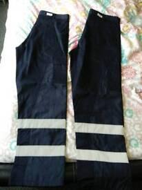Brand new. Tuff Shield reflective work trousers