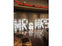 Light up letters mr & Mrs £99 hire stunning