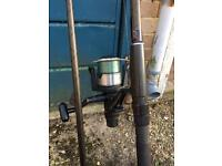 Fox rangemaster 2 rod and shimano 8010 baitrunner reel carp fishing