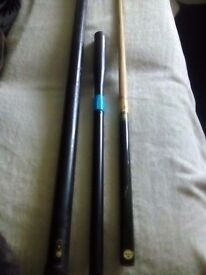 Power glide snooker cue with extras