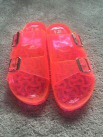 New and unworn primark jelly sandals UK 6