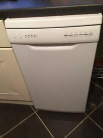 Slimline dishwasher.