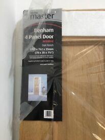 Interior Oak Finish 4 Panel Door
