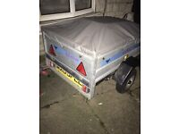 Wilstow box trailer with led lights and jockey wheel