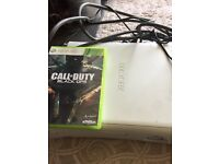 Games Console X Box 360 and one game Call of Duty