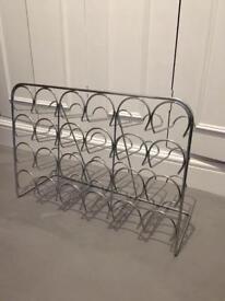 24 bottle metal wine rack