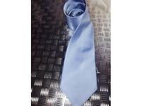 Men's baby blue classic smart silk neck tie