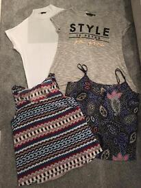 Women's bundle of clothes sizes 8 10 12 dress tops tshirt jeans summer winter