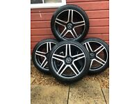 4x 18inch Mercedes style alloys with tires