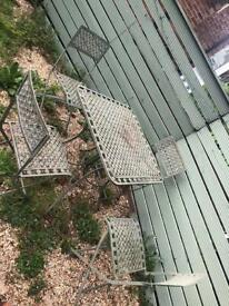 Metal Garden Table & chairs