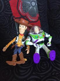 Talking Buzz and Woody Toys