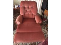 Beige colour reclining arm chair for sale