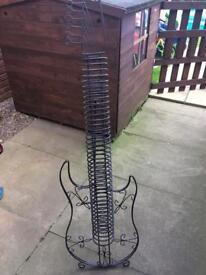 Metal Guitar CD Rack