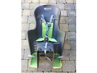 Polisport Boodie rear child's bike seat - grey and green