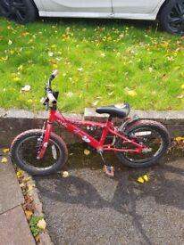 Boys Red Apollo Urchin Bike - 16 inch Wheels - Age 4-6