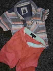 Beautiful boys 18-24 month shirt and short summer set