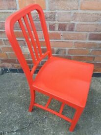 Emeco Replica Bright Red Chair- Ex Display