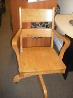 """Solid Oak Chair """" USED"""""""