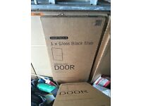 35 GLOSS BLACK KITCHEN CUPBOARD DOORS