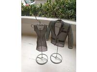 pair of IKEA mesh mannequins (dress & jacket)