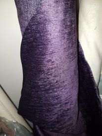 Velvet chenniel purple fabric
