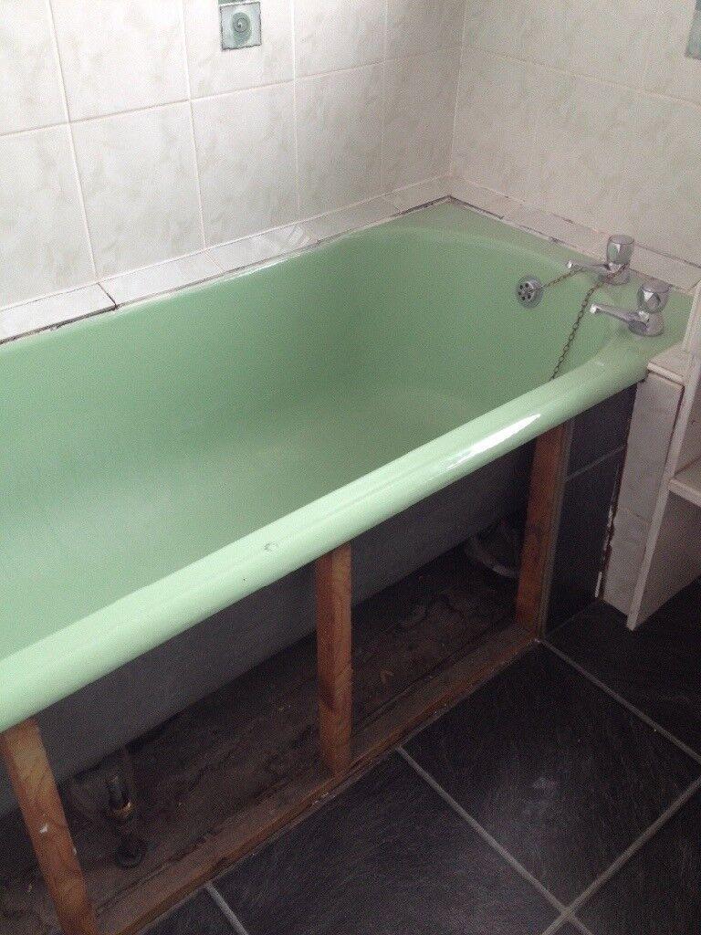1950s Attractive Green enamel finish cast iron bath | in Liverpool ...