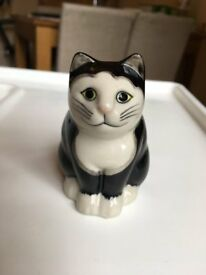 Quail Ceramic Cat Simon; ornament - still available